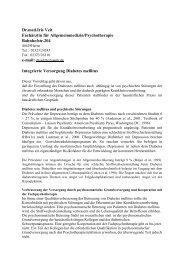 Integrierte Versorgung Diabetes mellitus - Dr. med. Iris Veit
