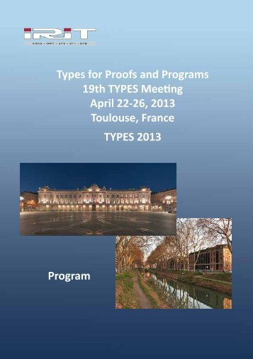 Complete Program of all of TYPES 2013 - IRIT