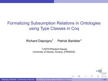 Formalizing Subsumption Relations in Ontologies using Type ... - IRIT