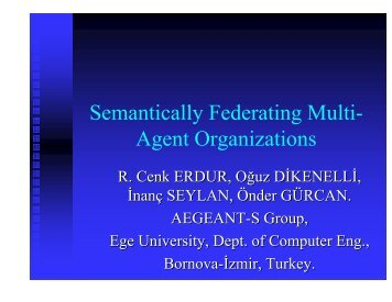 Semantically Federating Multi- Agent Organizations - IRIT