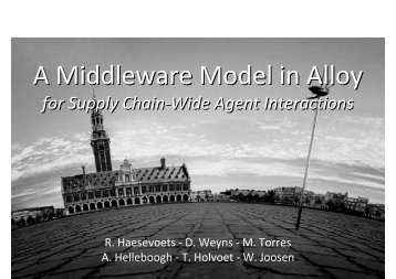A Middleware Model in Alloy A Middleware Model in Alloy - IRIT