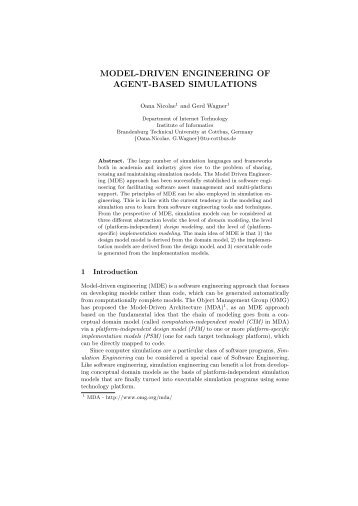 model-driven engineering of agent-based simulations - IRIT