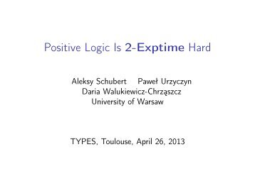Positive Logic Is 2-Exptime Hard - IRIT