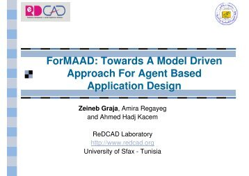ForMAAD: Towards A Model Driven Approach For Agent ... - IRIT