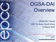 OGSA-DAI Overview - IRIT