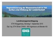 Regionalisierung der Wasserwirtschaft im Val-de-Ruz ...