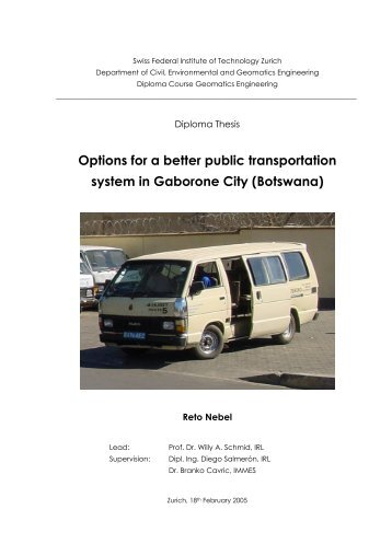 Options for a better public transportation system in ... - Institut für Raum
