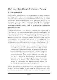 Ökologische Planung und Risikoanalyse - Institut für Raum - ETH ...