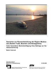 Szenarien zur Raumentwicklung der Region Modrac- see (Kanton ...