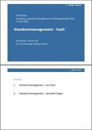 Standortmanagement - Fazit