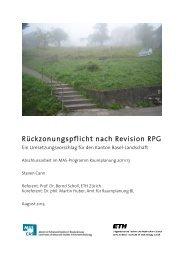 Rückzonungspflicht nach Revision RPG - Institut für Raum - ETH ...