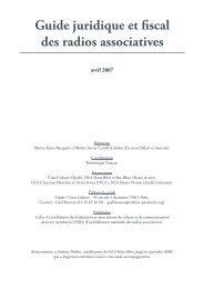 Guide juridique et fiscal des radios associatives - Association Opale ...