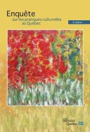 Enquête sur les pratiques culturelles au Québec - Avant-propos - Irma