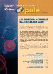 LES MUSIQUES ACTUELLES DANS LE GRAND LYON - Opale