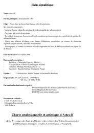 Charte professionnelle et artistique d'Actes-If - Irma