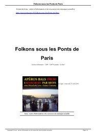 Folkons sous les Ponts de Paris - Irma