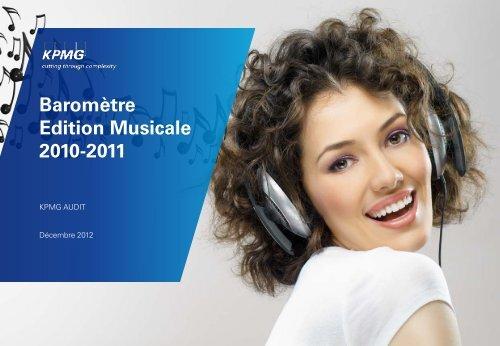 Baromètre de l'édition musicale 2010-2011 - CEMF