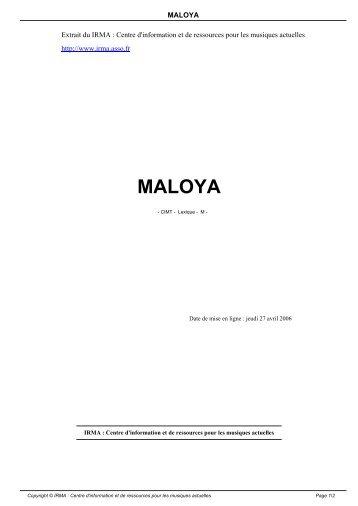 MALOYA - Irma
