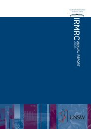 2006 Annual Report - Injury Risk Management Research Centre ...