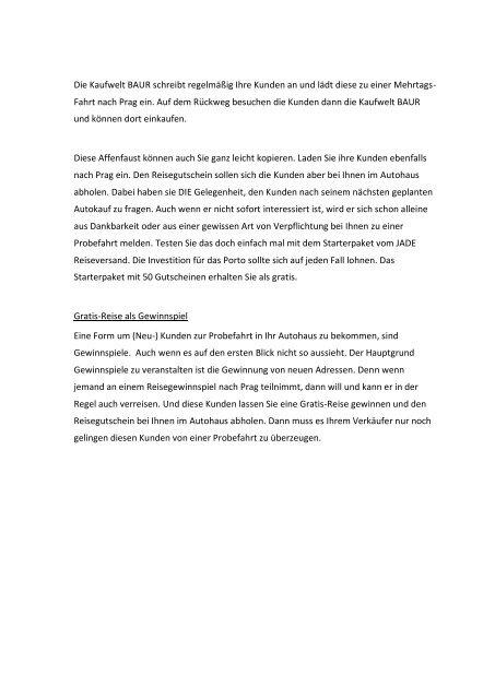 Affenfaust – Marketing im Autohaus