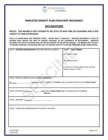 KksKKk IK Declaration Form  Employees State Insurance