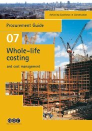 Achieving Excellence Guide 7 - Whole-Life costing - Forthconstruction