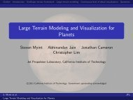 Large Terrain Modeling and Visualization for Planets - IROS 2011