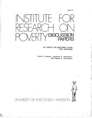 POVER1YD,scWl - Institute for Research on Poverty - University of ...