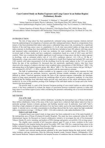 Case-Control Study on Radon Exposure and Lung Cancer in an ...