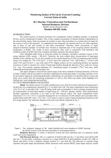 Monitoring Intakes of Pu/Am by External Counting - International ...