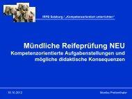 Kompetenzorientiert unterrichten - IRPB-Salzburg