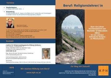 Download Folder Religionslehrerausbildung (.pdf) - IRPB-Salzburg