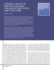 Canada's legacy of inaction on early childhood education