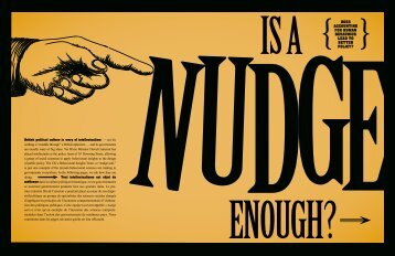 Nudge: Experiments in Human Nature - Institute for Research on ...