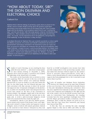 """""""how about today, sir?"""" the dion dilemma and electoral choice"""