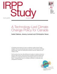 Study - Institute for Research on Public Policy