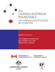 canada-australia roundtable - Institute for Research on Public Policy