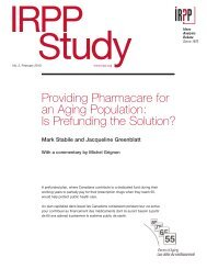 Providing Pharmacare for an Aging Population: Is Prefunding the ...