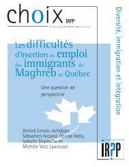 Lenoir choix_Bouderbat choix - Institute for Research on Public Policy
