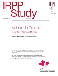 Making It in Canada - Institute for Research on Public Policy