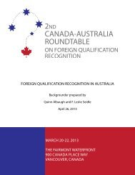 Backgrounder Australia - Institute for Research on Public Policy