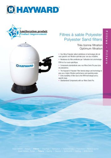Filtres à sable Polyester Polyester Sand filters - Hayward Pool Europe
