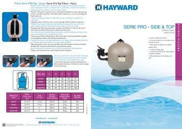 SERIE PRO - SIDE & TOP - Hayward Pool Europe