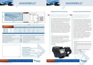 WHISPERFLO® WHISPERFLO® - Pentair Pool Europe