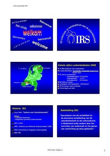 IRS presentatie