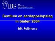 Centium en aardappelopslag in bieten 2004.pdf - Irs