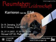 DLR-Präsentation Raumfahrtmanagement mit Kopf