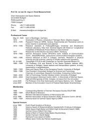 Curriculim Vitae in English (pdf) - IRS - Universität Stuttgart