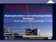 Bodengebundene und weltraumgestützte Teleskope für die ... - IRS