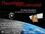 50 Jahre Raumfahrt - IRS - Universität Stuttgart